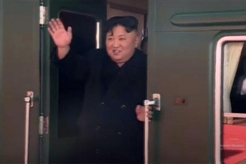 فیلم ، رهبر کره شمالی با قطار به دیدار ترامپ رفت