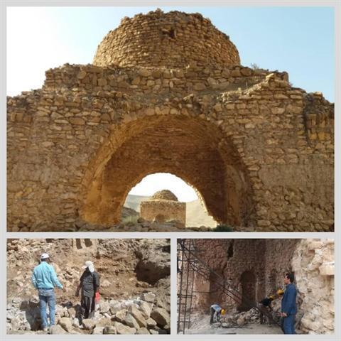 شروع مرمت چهارطاقی های قصرآینه داراب با اعتبار یک میلیارد و 150میلیون ریال