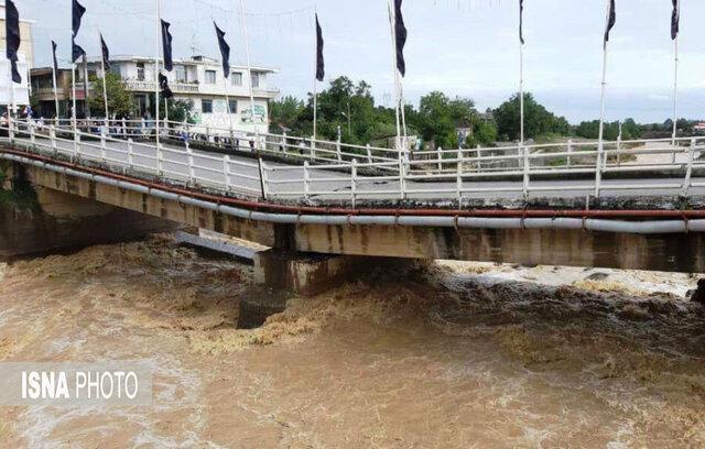 سیل پل شهر اسالم را تخریب کرد