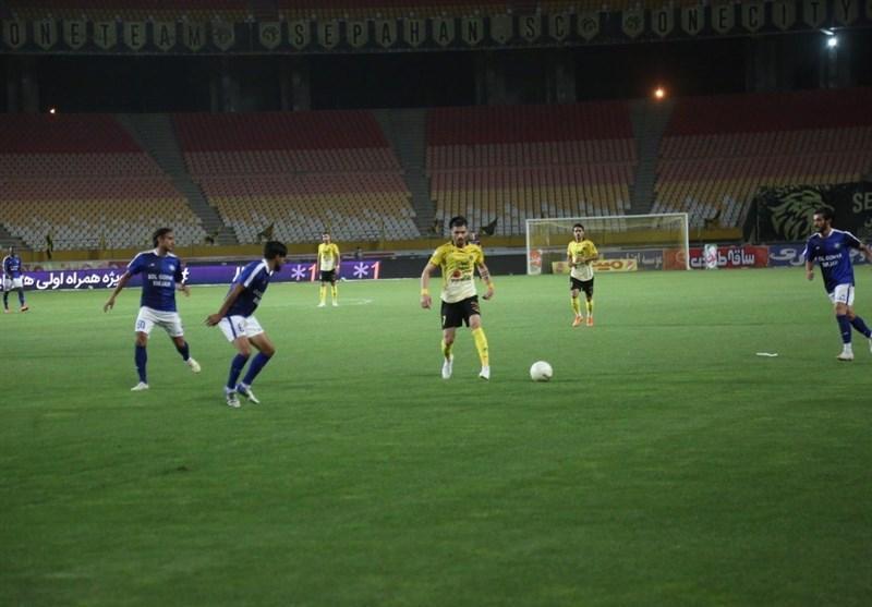 لیگ برتر فوتبال، سپاهان با شکست گل گهر فاصله اش با پرسپولیس را حفظ کرد