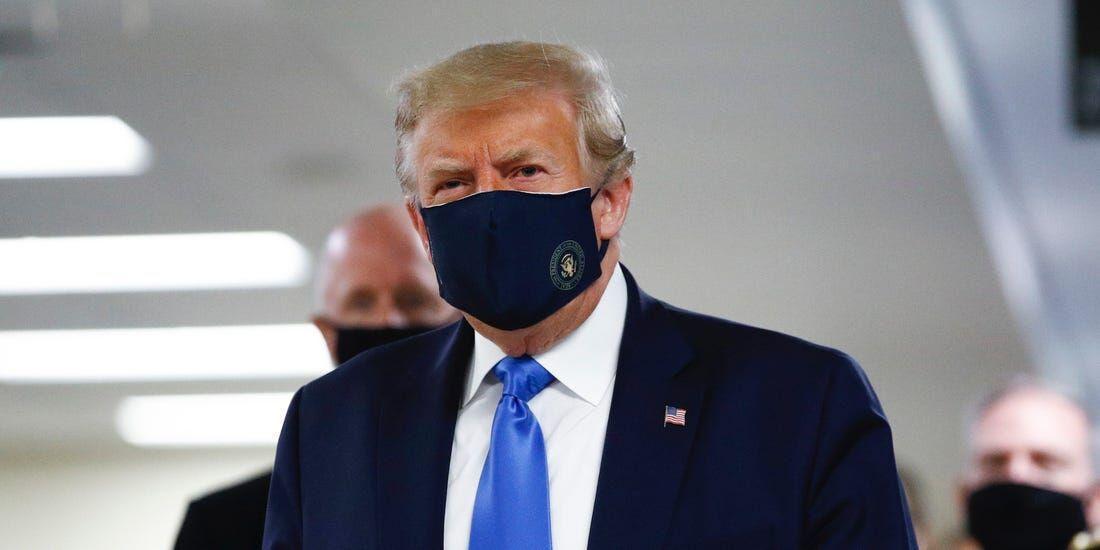 خبرنگاران ترامپ خاتمه ماسک زد